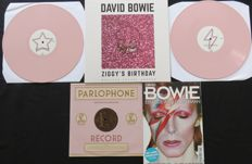 David Bowie: Great lot of 2LP's on PINK vinyl , 1x 10inch + 1 Glossy 'Een Ode aan De Starman'