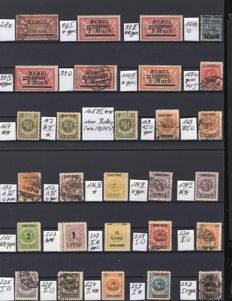 Memel region 1921-1923 – collection sorted by type, plate errors