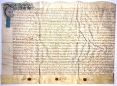 Manuscript; Original certificate on parchment on the sale of several houses in England - 1704