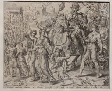 Maarten van Heemskerck (1498 - 1574) - A pair of engravings about Saul and David - Ca. 1566