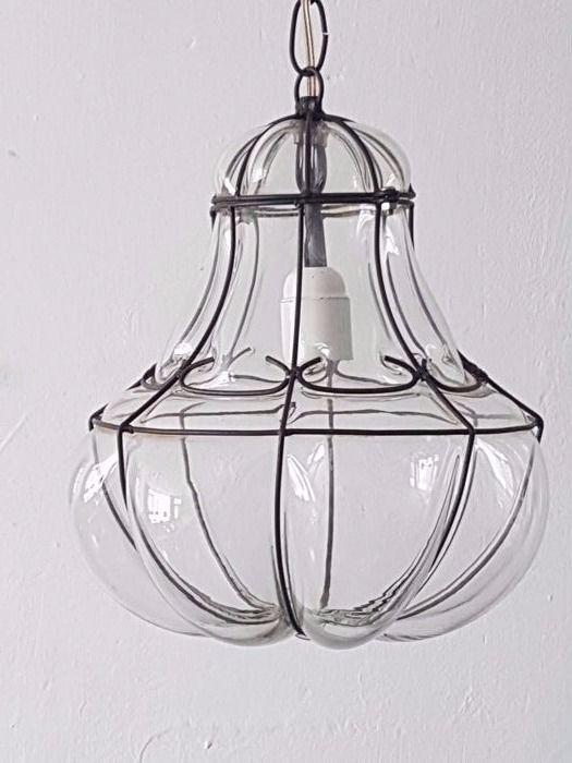 Beautiful hand-blown Venetian lamp, second half of the 20th century