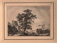 Paul Sandby ( 1731 - 1809) - Large landscape in Scotland or Wales - Ca 1775