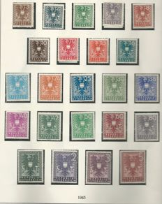 Austria 1945-1972 – collection on Lindner sheets