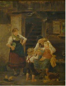 Ludwig Blume - Siebert (1853-1929) - Rural family happiness