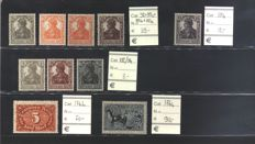 Deutsches Reich – selection of several variations from the period