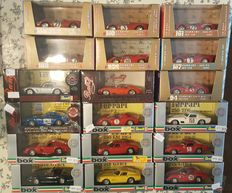 Box / Brumm / Bang - Scale 1/43 - Lot with 18 models: 17 x  Ferrari en 1 x Maserati