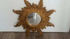 Beautiful wooden sun mirror