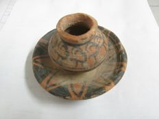 Indus Valley decorated terracotta vase - 90x60 mm