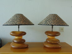Francois Chatain, 4 cylinder table lamps