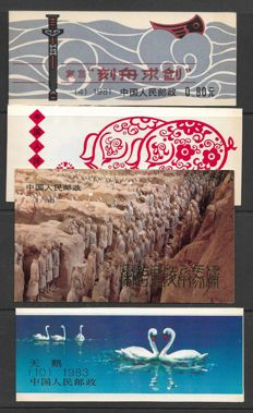China 1981/1991 - 12 different booklets