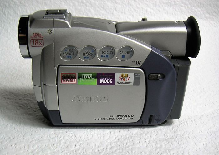 Excellent digital Canon camcorder MV500, kept in very good condition and fully functional