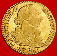 Spain – Carlos III (1759–1788) – 1 gold escudo Madrid 1785 DV