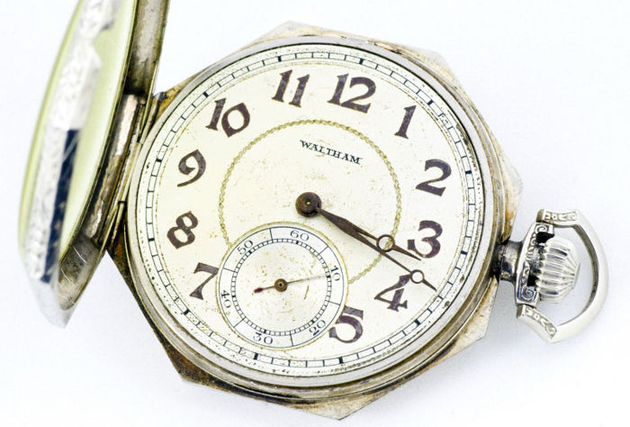 Waltham (USA). Men's Pocket Watch, Lepine and Remontoir. Circa 1920