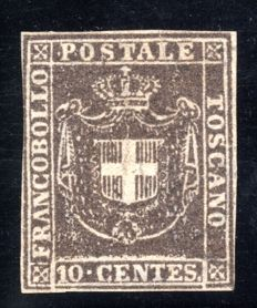 Tuscany  1860 -  Governo Provvisorio10 Cent brown  - Sassone: 19