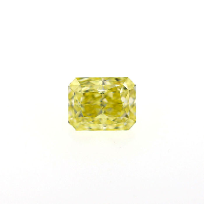 1.70 Ct. Natural Fancy Yellow Cushion shape VVS1 Diamond, GIA Certified