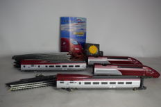 "Mehano H0 - T671 - Electric 4-piece train set ""Thalys"" with rails and transformer"
