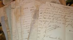 Lot of about 100 noble manuscripts - 1700/1800