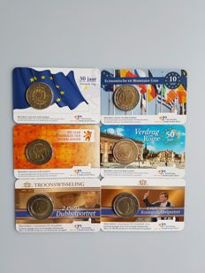 The Netherlands - Lot of 6 x 2 € in coincard - 2007/2015