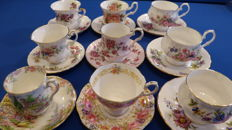 Royal Albert English cups and saucers Nine pieces