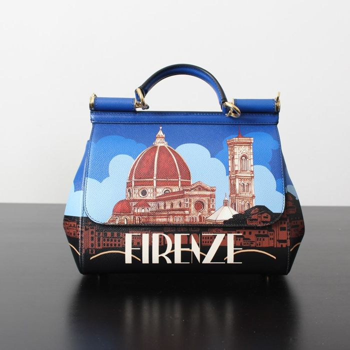 5dab9b17ad Dolce   Gabbana – Sicily Bag – Handbag - Limited edition with print of  Firenze