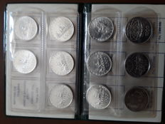 Republic of Italy – 500 and 1000 lire – Complete set from 1958 to 1970 (11 pieces) – silver