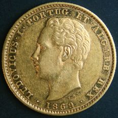 Portugal – 5,000 Réis in gold – 1869 – Luís I – Lisbon – Extremely Fine