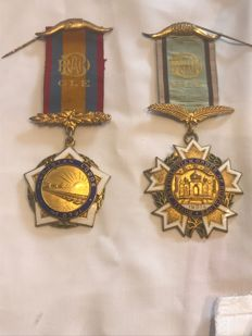 Collection of 2 very rare Indian  Masonic medals