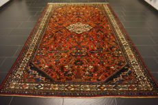 Old high-quality Persian carpet, Hamadan, made in Iran, natural dyes, 203 x 310 cm