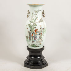 A Big Famille Rose figural Vase  - China - first half 20th century