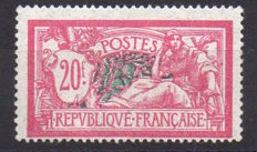 France 1925 – Merson 20f Lilac-Pink and Green-Blue – Yvert n° 208.