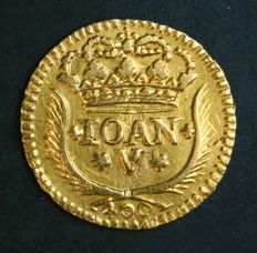 Portugal – Pinto in Gold – 1742 – D. João V – Lisbon – Above Average