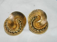 Vintage Christian Dior ear clips 35.2 x 26.2 mm gold-plated
