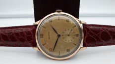 Zenith 18 kt rose gold Oversize watch, 37 mm, hand-wound, calibre 126, 1950s, for men