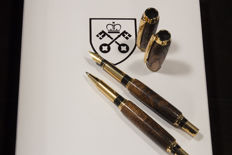 700 Year Old York Minster Cathedral Oak Pen set - 24ct gold plated.