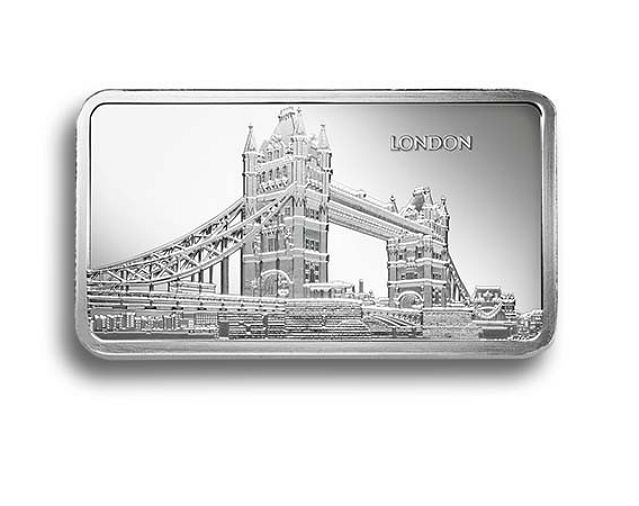 Great Britain - Silver bar 'Sharps Pixley London / Bullion Brokers' - 1 oz silver