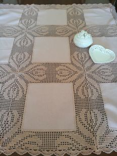 Sweet tea tablecloth, colour: old pink - Italy.