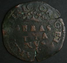 Portugal – 3 reais – Sebastião – 'SEBAS TIA NVS · I ·' with the 'I' flanked by dots – 1557-1578 – Lisbon – Rare