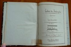 Manuscript - philosophy book belonging to Emile Tourseiller student at the lycée Sainte-Barbe - year 1862-1863.