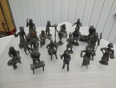 Collection of 18 old Daalderop crafts - tin - Netherlands -