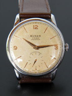 BUSER - Men's wristwatch from 1950s - Good condition.