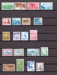 Japan 1921/1950 – Anniversary of the Postal Service – Yvert 309/12, 337/8, 383, 384, 385, 405/6, 407, 408/9, 411a, 420, 426/7, 445,448/51, 452, 458, 463, 475, 468,470, 472/3