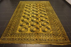 Beautiful old handwoven Art Deco oriental carpet 210 x 290cm olg Afghan, made in Afghanistan, very good