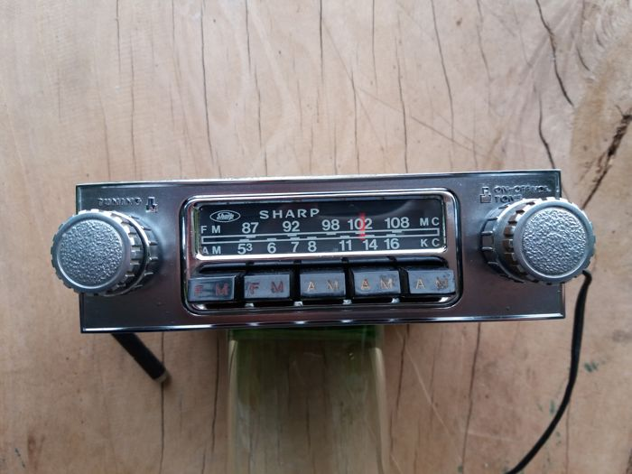 Rare classic car radio - Sharp Osaka ATR - 924 - manufacturing year 1975