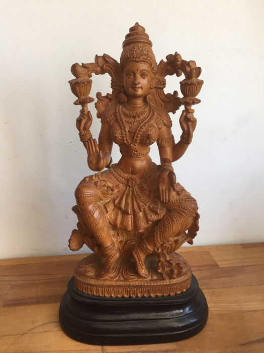Very detailed Lakshmi on a base – India – 1st half 20th century