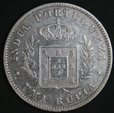 Portugal – 1 Rupia in Silver – Luís I – 1882- Portuguese India