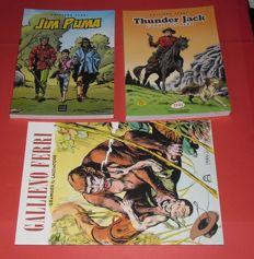 Ferri, Gallieno (cartoonist of Zagor) - 3x test volumes with illustrations and comics