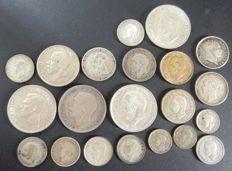 United Kingdom - 3 Pence up to and including ½ Crown 1819/1945 (21 pieces) - silver