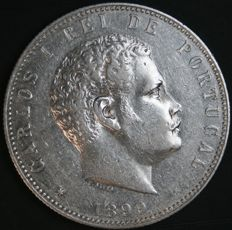Portugal – 1,000 Réis in Silver – Carlos I – 1899 – Lisbon – Uncirculated