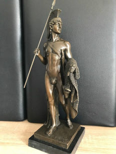 XL antique bronze figure / Jason and the Golden Fleece signed 48 cm 6.1 kg