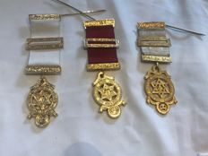Collection of 3 really nice Masonic medals